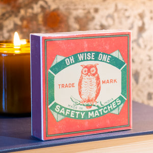 125 Safety Matches With Vintage Owl Graphic By Archivist #7