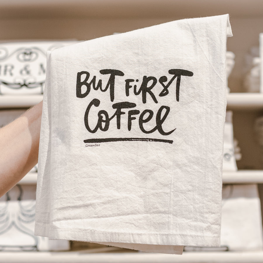 But First Coffee Cotton Tea Kitchen Towel