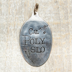 Cal Poly SLO - Hand Stamped Silver Plate