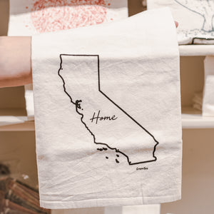 California Home Cotton Tea Kitchen Towel