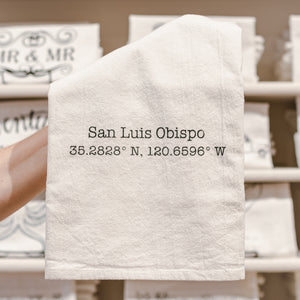 SLO Coordinates Cotton Tea Kitchen Towel
