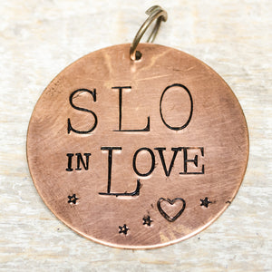 SLO in love - Hand Stamped Brass