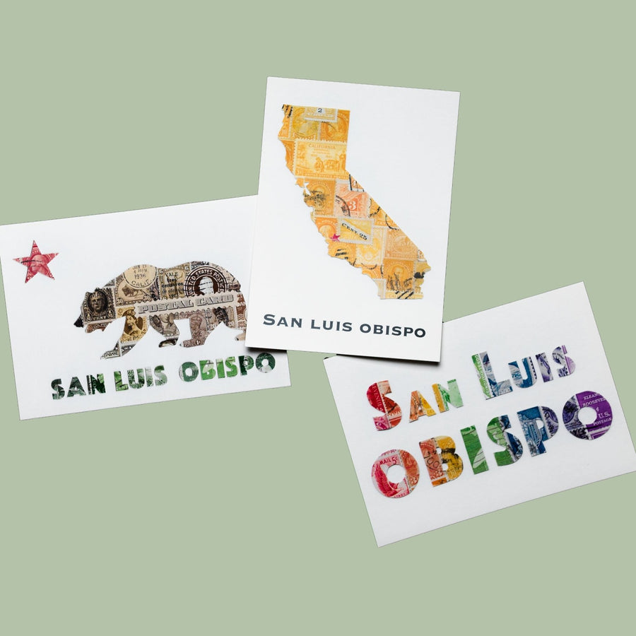 California Bear San Luis Obispo Postcard
