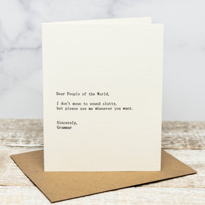 Dear People of the World - Greeting Card