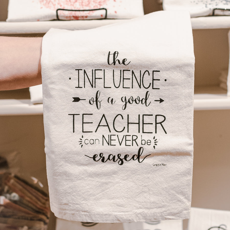 Teacher Influence Cotton Tea Kitchen Towel