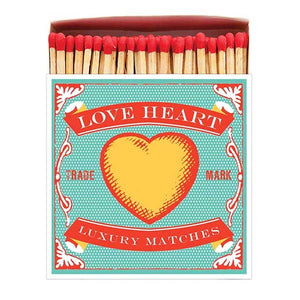 125 Luxury Matches With Vintage Heart Graphic
