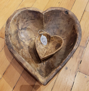 Hand Carved Heart Shaped Bowl