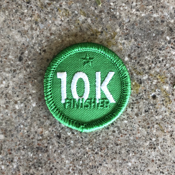 10K Finisher (6.2 miles) Merit Badge Patch for Runners