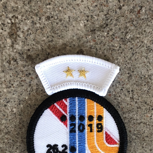 Two Star Finisher Insignia Patch for World Major Marathons