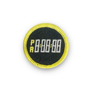 Personal Record (PR) Timer Merit Badge Patch for Runners