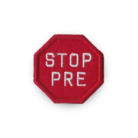 STOP PRE Merit Badge Patch for Runners
