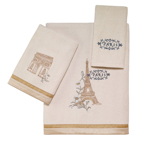 Avanti Linens Paris Botanique 3 Pc Towel Set, Ivory