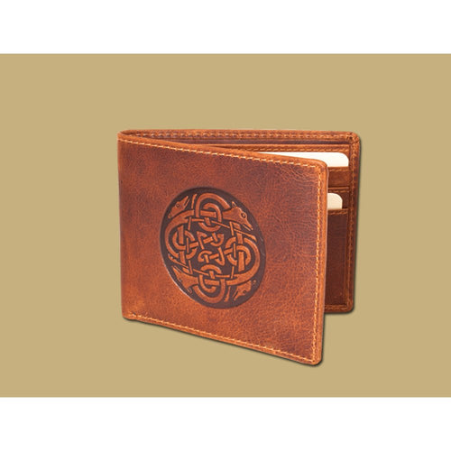 Lee River Cuchulainn Wallet, Tan - Irish Made