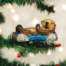 Load image into Gallery viewer, Old World Christmas Floating Sea Otter Ornament