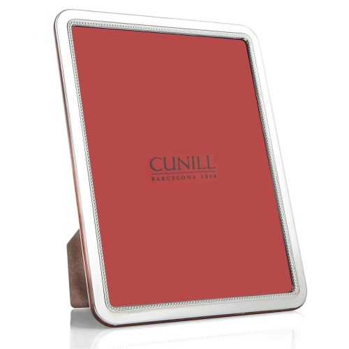 Cunill .925 Sterling Bead Rounded Corners Picture Frame