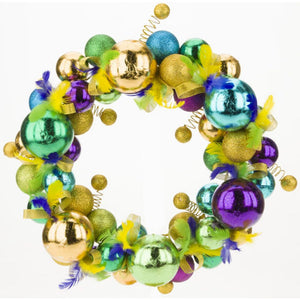 Mark Roberts 2020 Collection Mardi Gras Wreath, 15 inches
