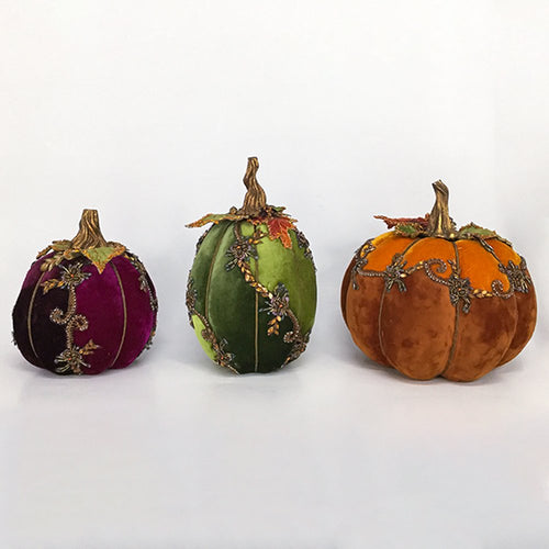 Katherine's Collection 2020 Give Thanks Pumpkins Figurine, Set of 3