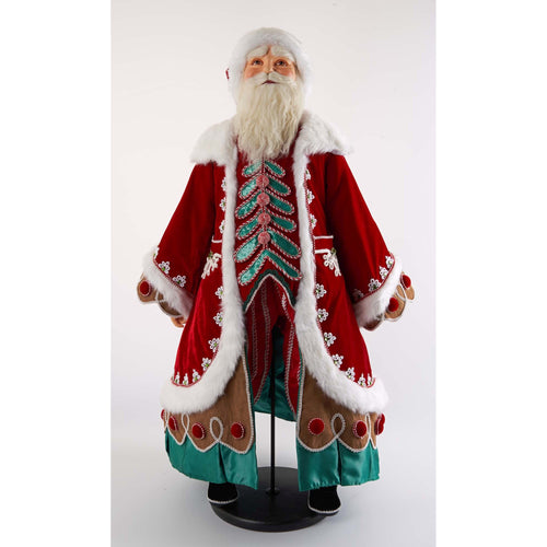Katherine's Collection 2021 Gingerbread Forest Santa Doll