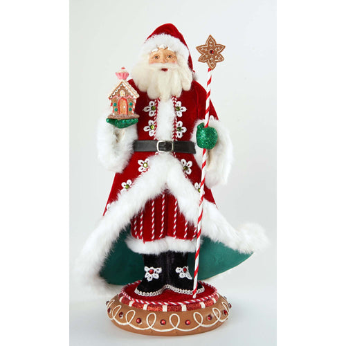 Katherine's Collection Gingerbread Forest Santa Tabletop Figurine