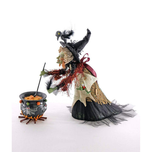 Katherine's 2020 Collection Witch Shopper with Cauldron Figurine