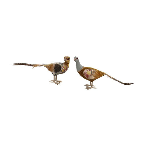 Mark Roberts Fall 2020 Glittered Pheasant 19x12'' Figurine, Assortment of 2