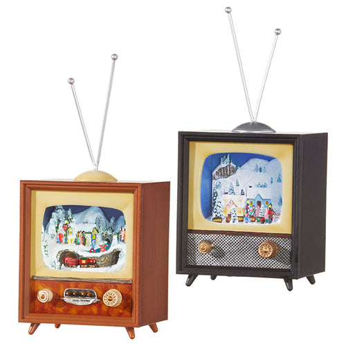 Raz Imports Happy Hollydays 10 Animated Musical Tv, Assortment of 2