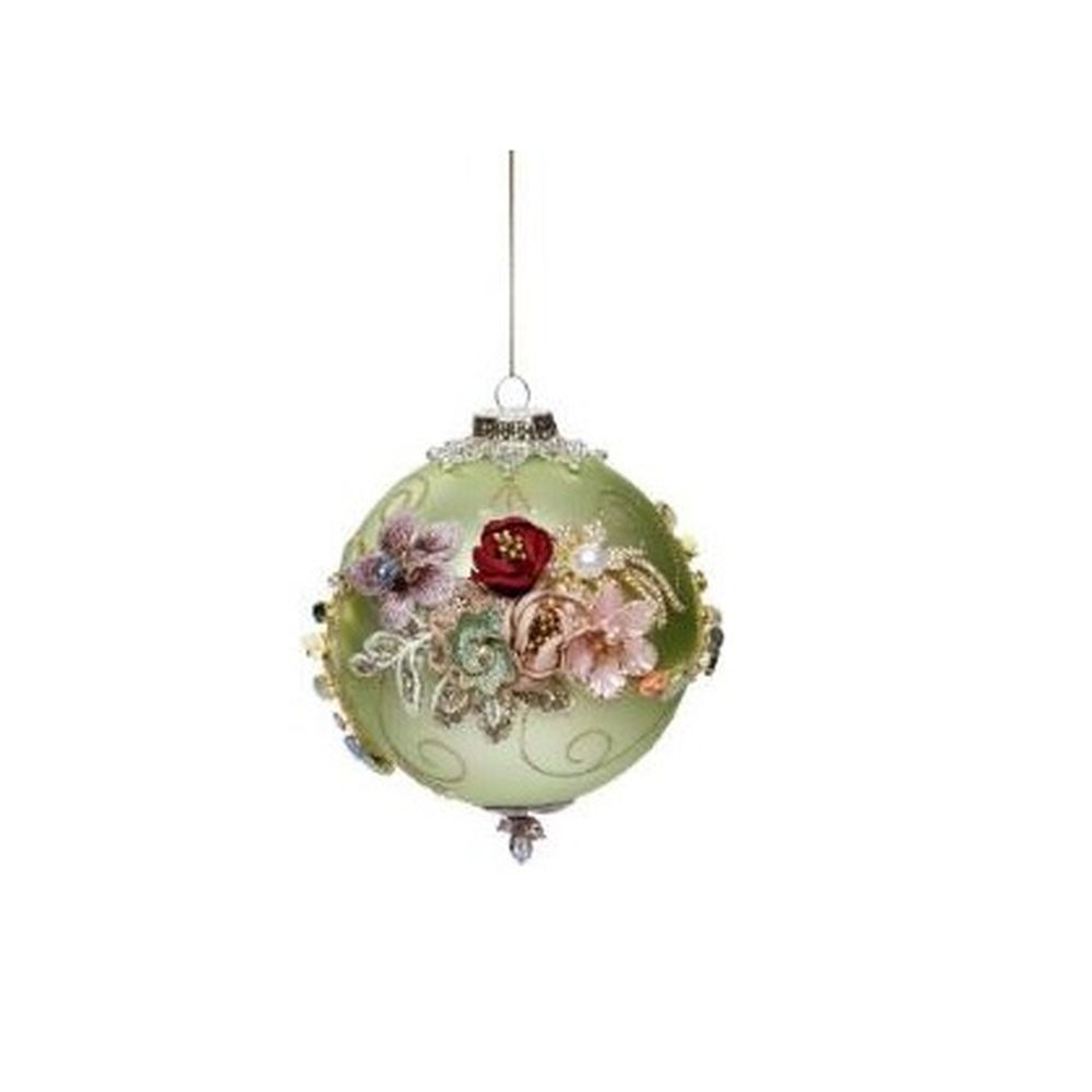 Mark Roberts Christmas 2020 King's Jewel Ball Ornament, Green 4''