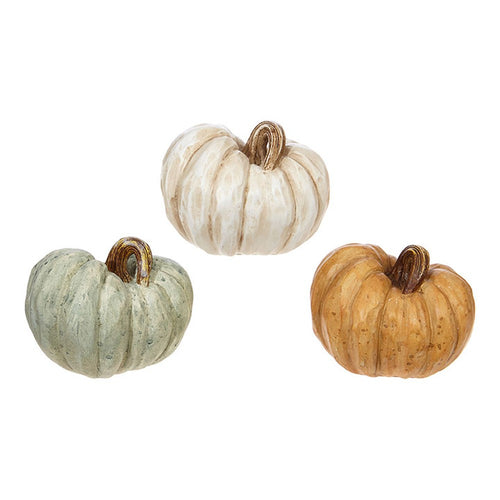Raz Imports 2020 Fall 4.25-Inch Pumpkin Figurine, Assortment of 3
