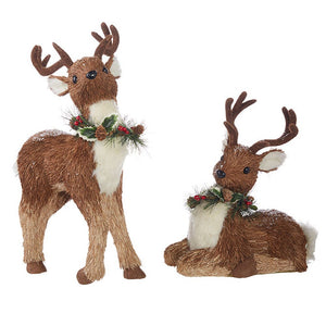 "Raz Imports Through The Woods 18.25"" Deer, Set of 2"