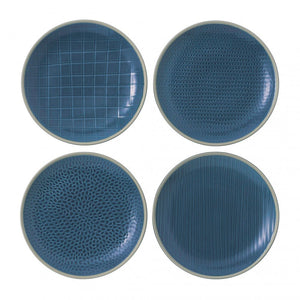"Gordon Ramsay Maze Grill Set of 4 Salad Plate 9"" Mixed"