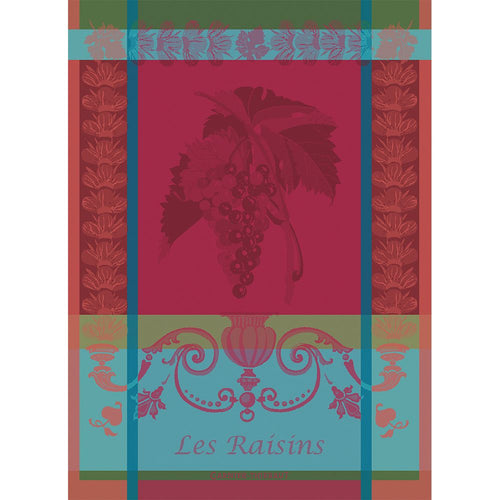 Garnier Thiebaut Les Raisins Lie De Vin Kitchen Towel 22