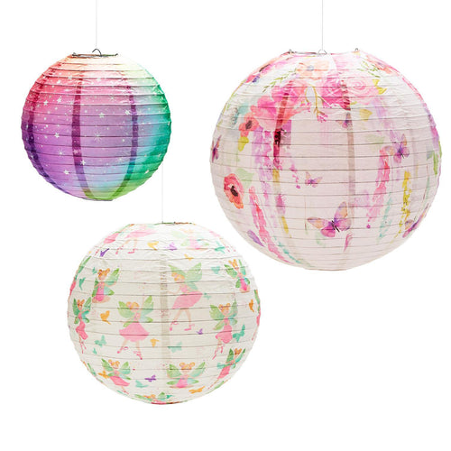 Two's Company Very Fairy Set of 3 Paper Lanterns.