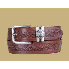 Load image into Gallery viewer, Lee River Leather Asgard Jeans Belt Brown - Irish Made