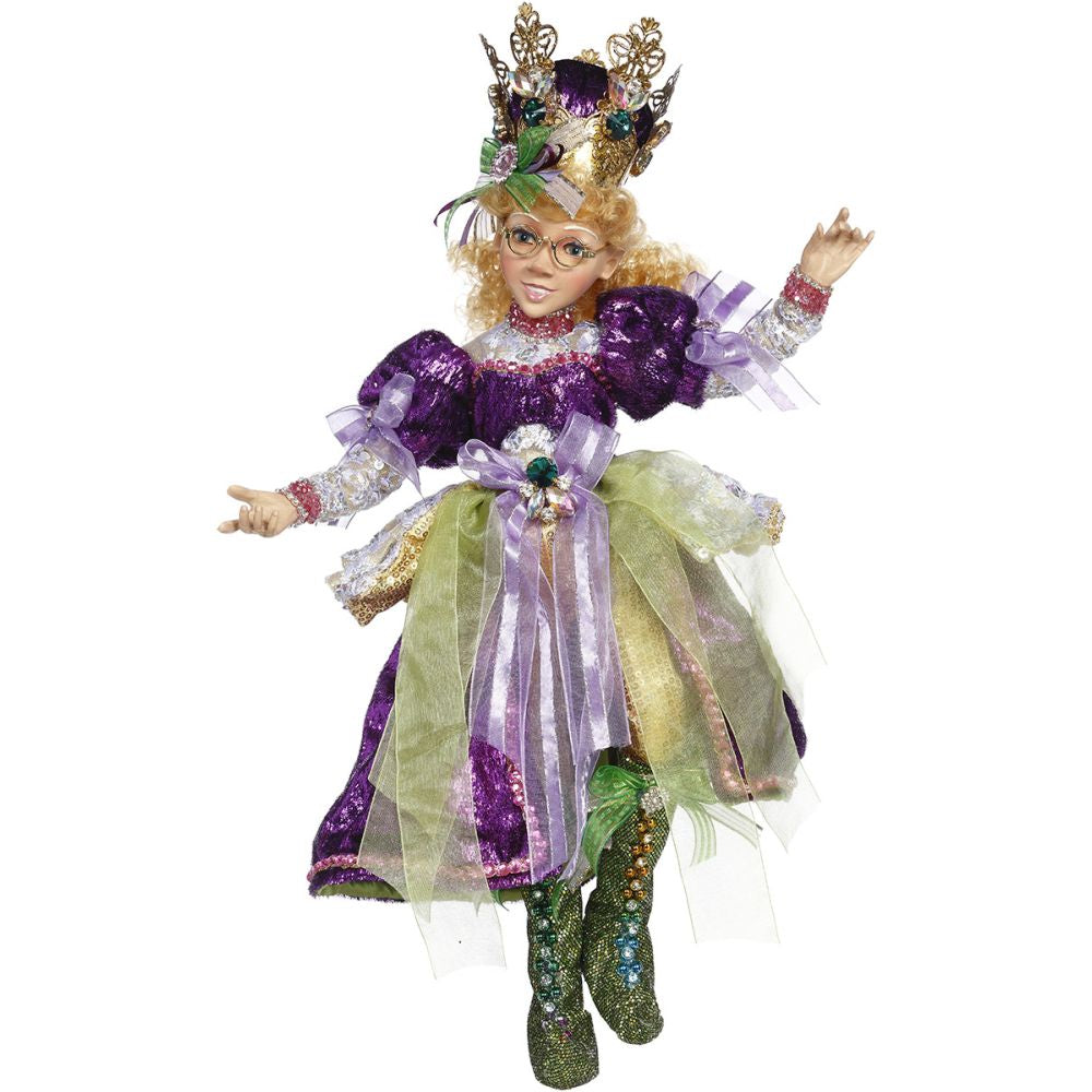 Mark Roberts 2020 Collection Mardi Gras Queen Elfin Figurine, Medium, 19 inches