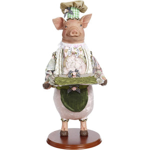 Mark Roberts 2020 Collection Server Pig with Small Platter Figurine, 19 inches