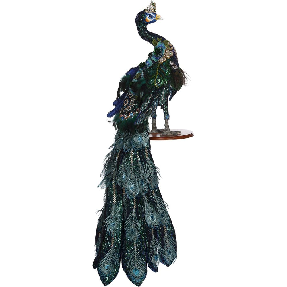 Mark Roberts 2020 Collection Jeweled Peacock Figurine, 57 inches