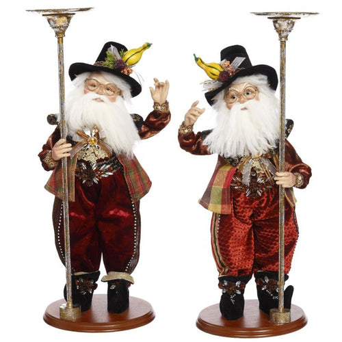 Mark Roberts 2020 Collection Pilgrim Elf Candle Holder Assortment of 2 Figurines