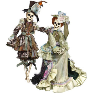Mark Roberts 2020 Collection Fashion Skeleton, Large, Assortment of 2 Figurines