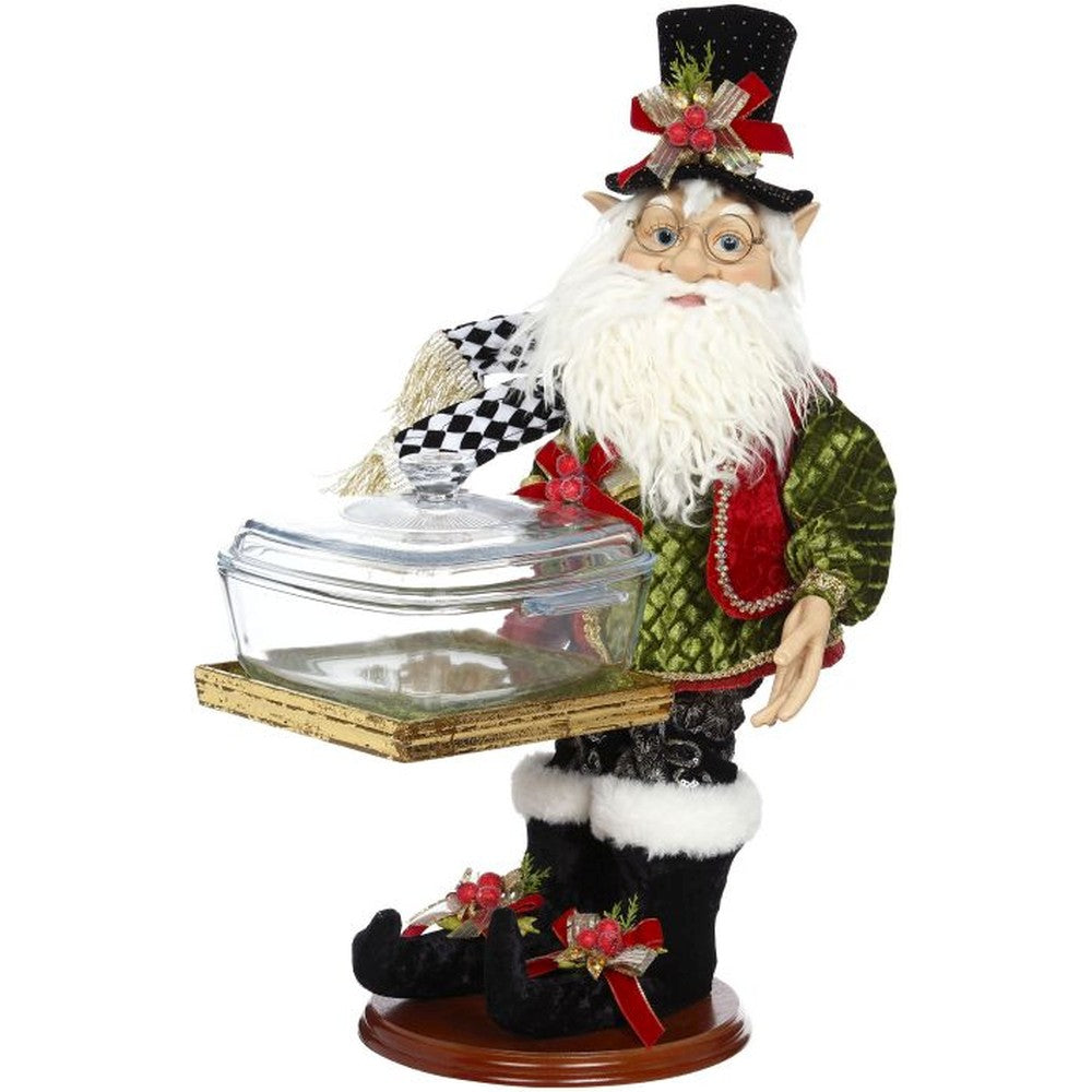 Mark Roberts 2020 Collection Elf with Bowl 19.5-Inch Figurine