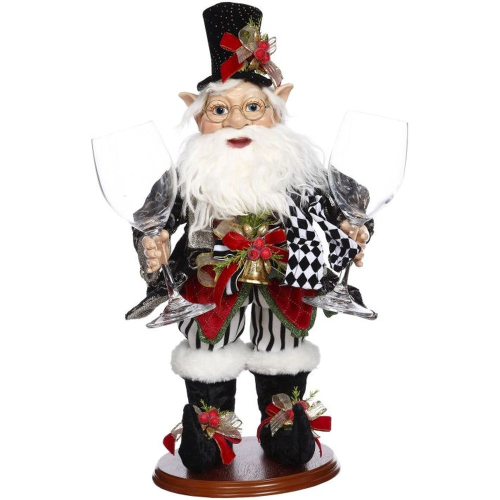 Mark Roberts 2020 Collection Elf with Wine Glasses 20-Inch Figurine
