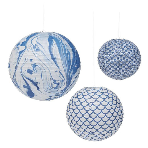 Two's Company Pattern Play Set of 3 Paper Lanterns Includes 3 Sizes