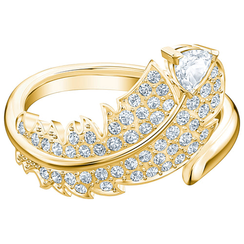Swarovski Nice Ring Simple Gold Plated