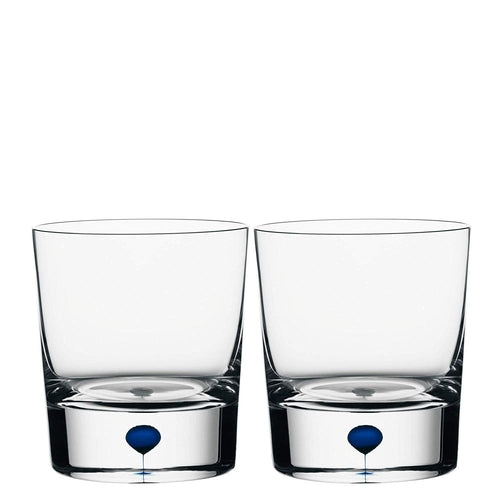 Orrefors Intermezzo Blue Old Fashioned / Whiskey Pair