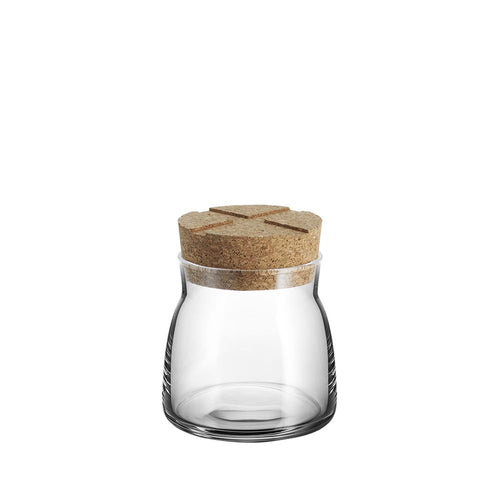 Kosta Boda Bruk Jar with Cork Clear Small