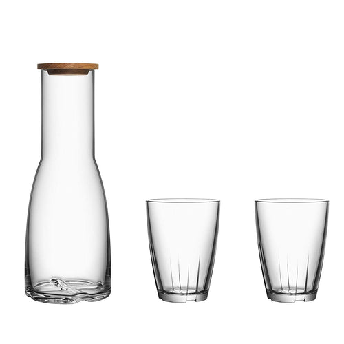 Kosta Boda Bruk Carafe 3 Piece Set Clear