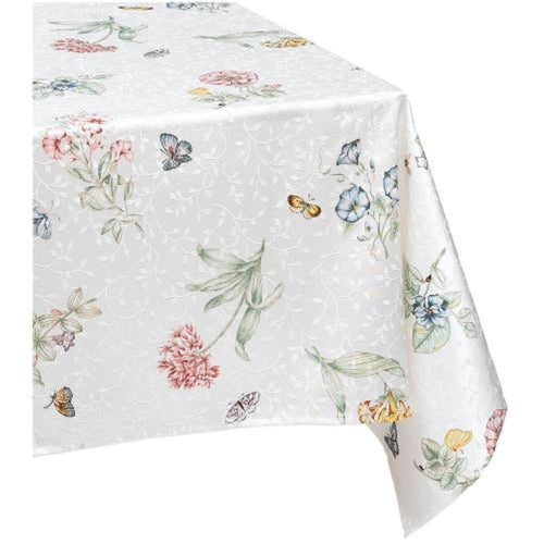 Lenox Butterfly Meadow Jacquard Damask Oblong Tablecloth