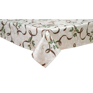 "Lenox Holiday Nouveau 102"" Ribbon Oblong Tablecloth"