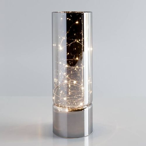 Torre & Tagus Smoke Mirror Hurricane LED Decor Lamp