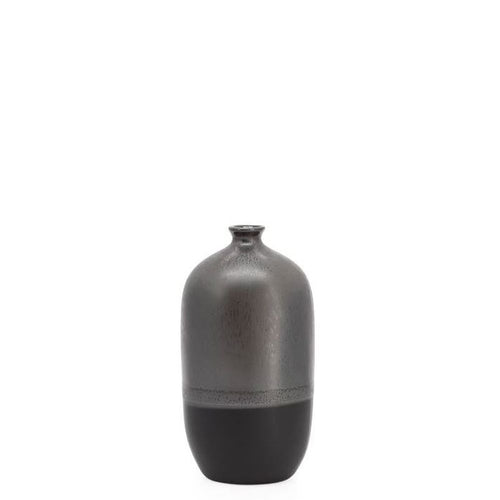 Tolo 2 Tone React Glaze Bottle Vase -Graphite