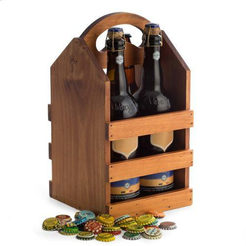 Bey Berk Four Beer Bottle Caddy with Handle